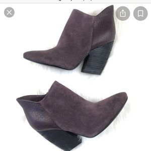 Crown Vintage Naydine Purple Suede Booties